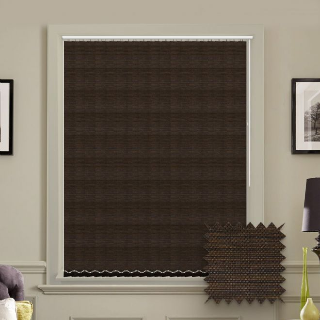 Made to Measure Morocco Cocoa Brown Vertical Blind - Just Blinds